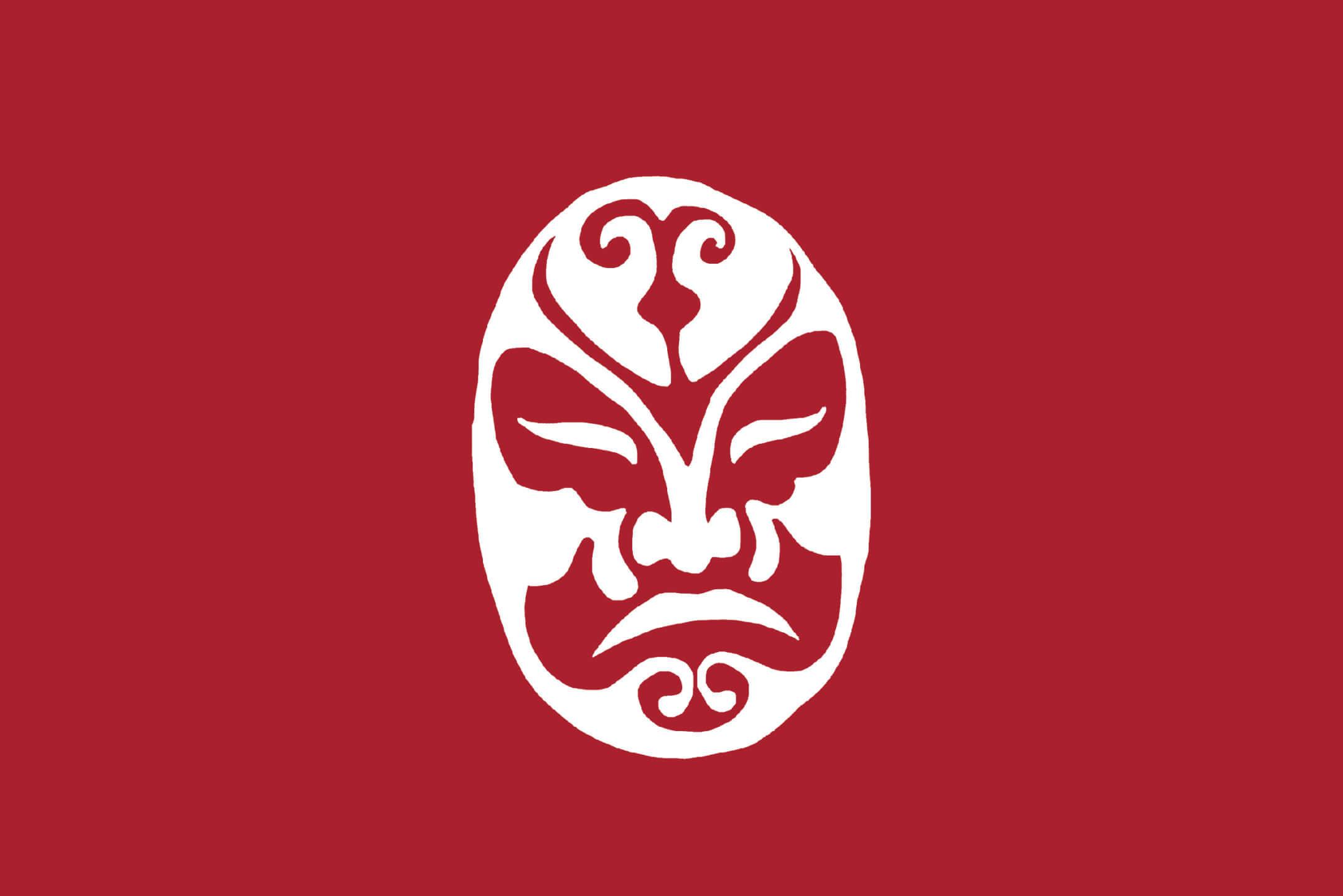 La Chinesca's luchador mask-inspired logo icon